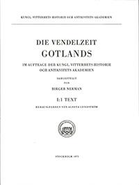 Die Vendelzeit Gotlands, I:1. Text