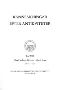 Rannsakningar efter antikviteter, band III