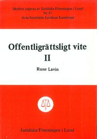 Offentligrättsligt vite II av Rune Lavin