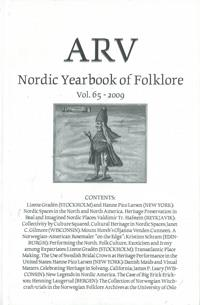 Arv - Nordic Yearbook of Folklore Vol. 65 - 2009