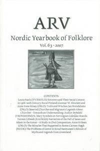 Arv - Nordic Yearbook of Folklore Vol. 63 - 2007