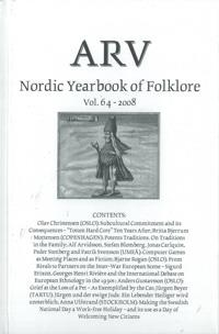 Arv - Nordic Yearbook of Folklore Vol. 64 - 2008