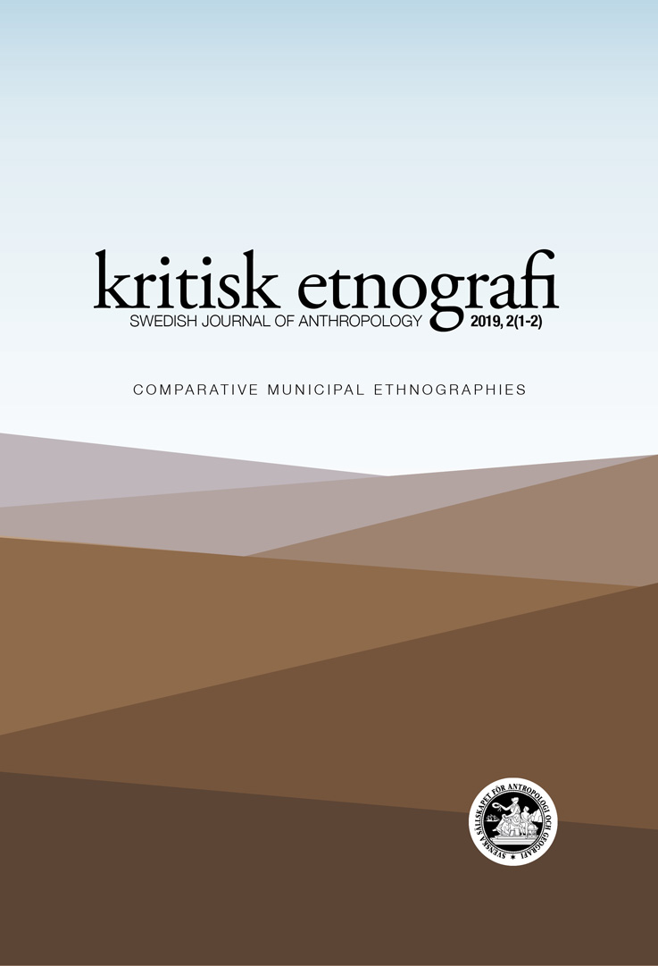 kritisk etnografi – Swedish Journal of Anthropology, 2019, Vol 2