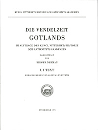 Die Vendelzeit Gotlands, I:1. Text