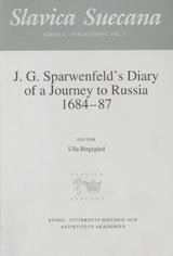 J. G. Sparwenfelds Diary of a Journey to Russia 1684-87