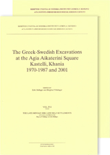 The Greek-Swedish Excavations at the Agia Aikaterini Square, Kastelli, Khania 1970-1987 and 2001. Utges i två delar sålda tillsammans Vol. 4:1-2. The Late Minoan IIIB:1 and IIIA:2 Settlements, Text and Plates, 2011, ActaAth-4°, no. 47:4:1-2