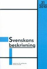 Svenskans beskrivning 31 Förhandlingar vid Trettioförsta sammankomsten för svenskans beskrivning