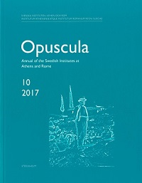 Opuscula 10 | 2017 Annual of the Swedish Institutes at Athens and Rome