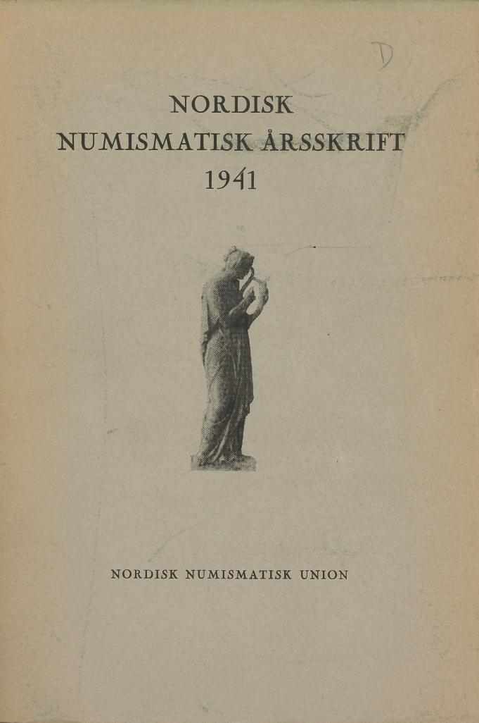 Nordisk Numismatisk Årsskrift 1941
