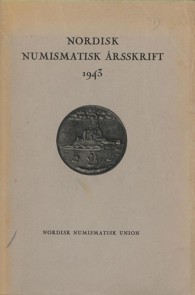 Nordisk Numismatisk Årsskrift 1943
