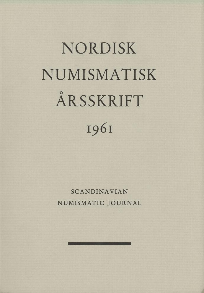 Nordisk Numismatisk Årsskrift 1961