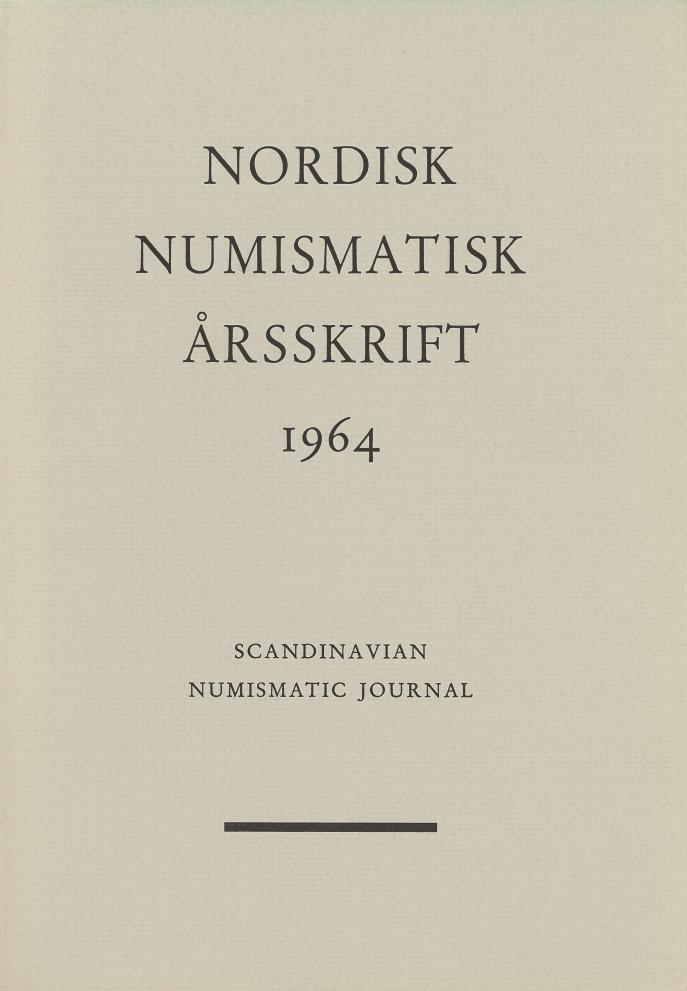 Nordisk Numismatisk Årsskrift 1964