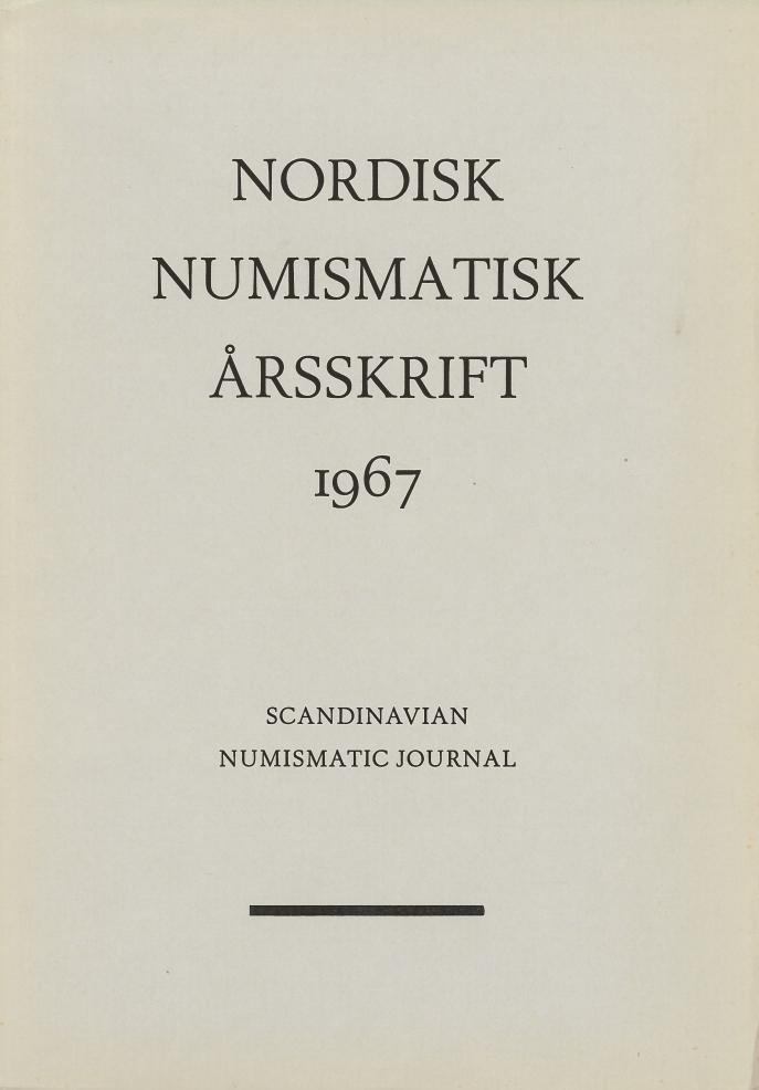 Nordisk Numismatisk Årsskrift 1967