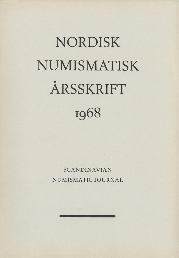 Nordisk Numismatisk Årsskrift 1968