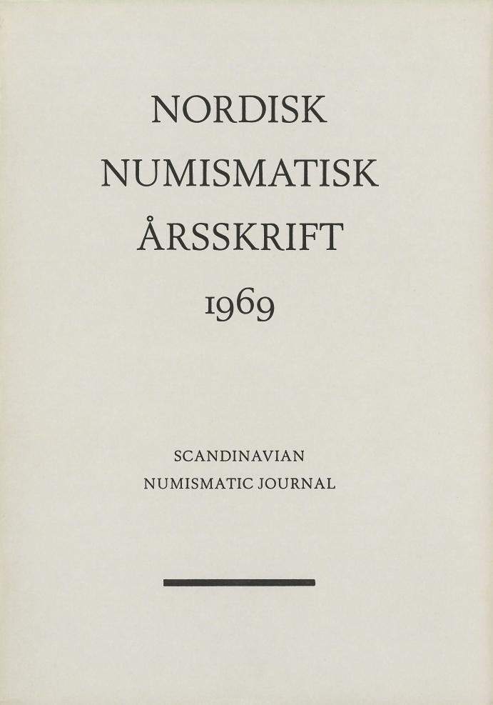 Nordisk Numismatisk Årsskrift 1969