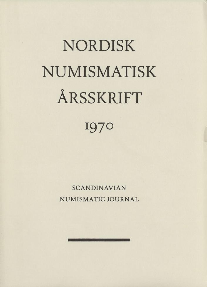 Nordisk Numismatisk Årsskrift 1970