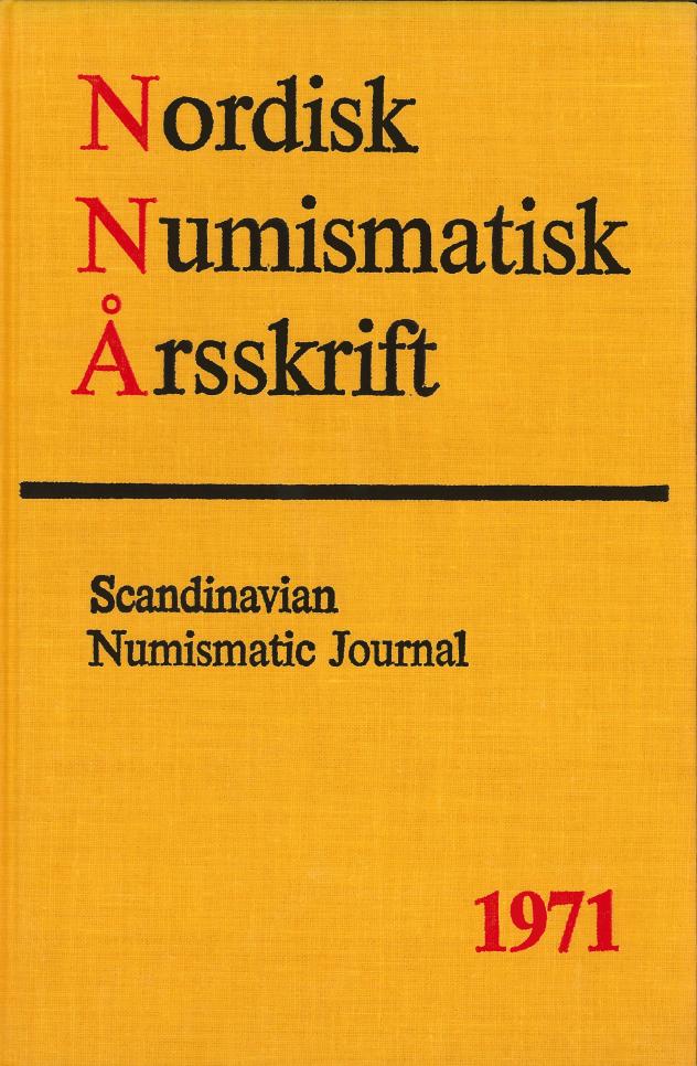 Nordisk Numismatisk Årsskrift 1971