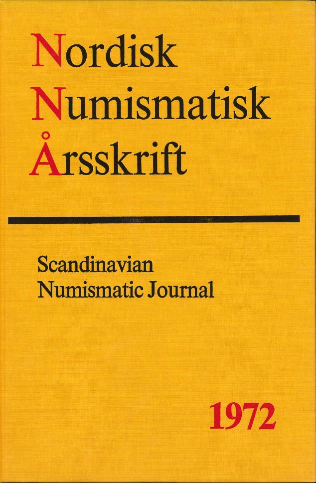 Nordisk Numismatisk Årsskrift 1972