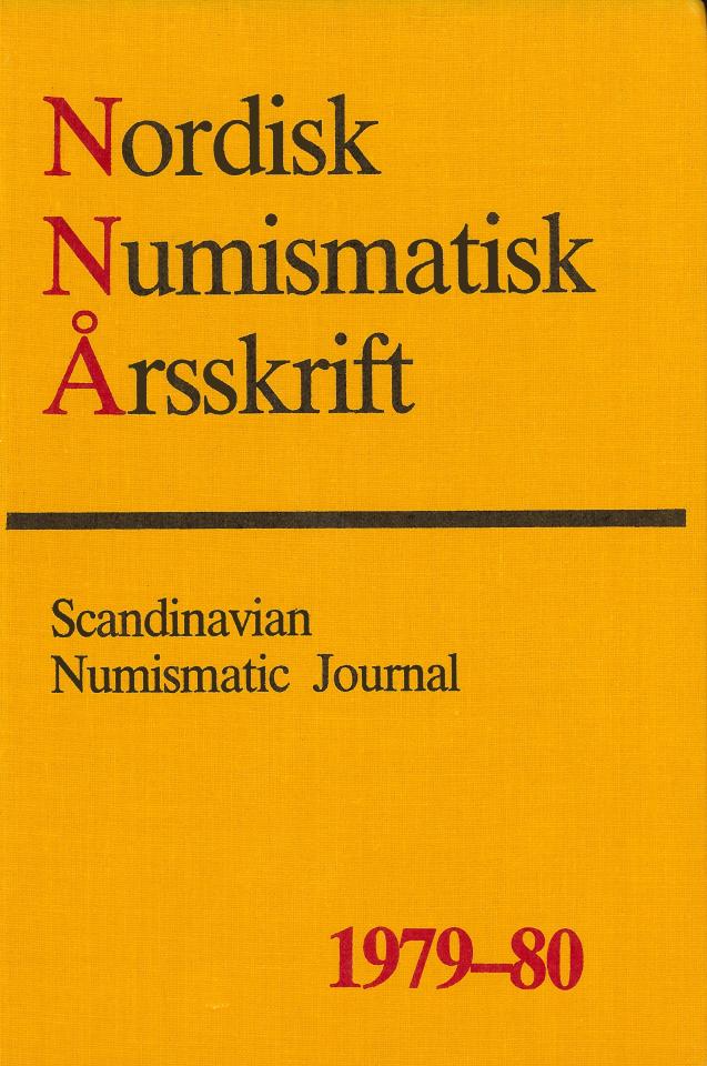 Nordisk Numismatisk Årsskrift 1979-80