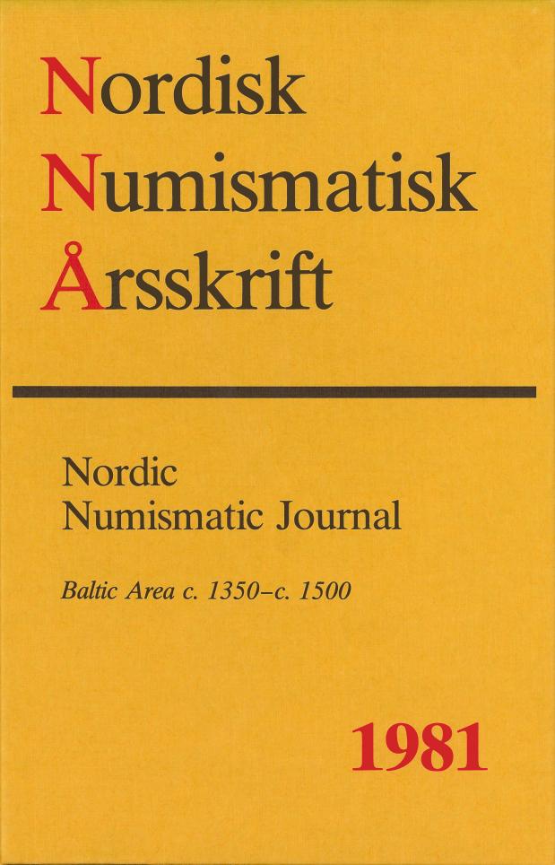 Nordisk Numismatisk Årsskrift 1981
