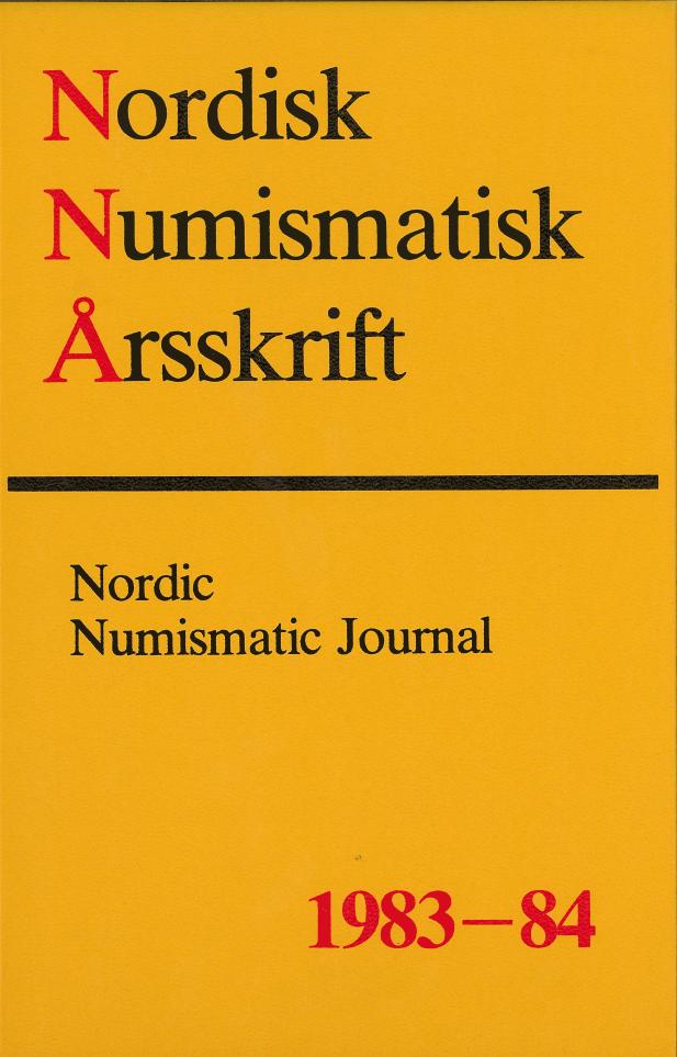 Nordisk Numismatisk Årsskrift 1983-84