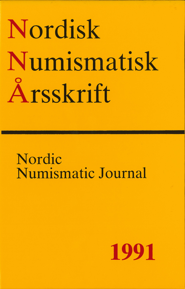 Nordisk Numismatisk Årsskrift 1991