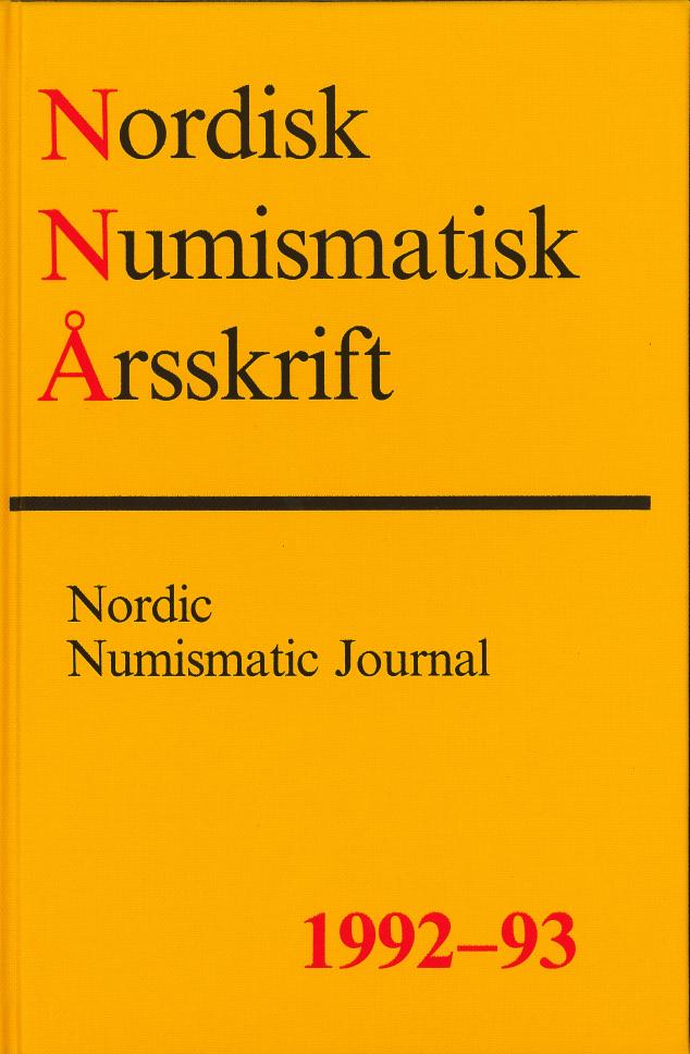 Nordisk Numismatisk Årsskrift 1992-93