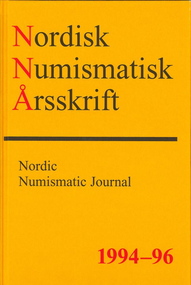 Nordisk Numismatisk Årsskrift 1994-96