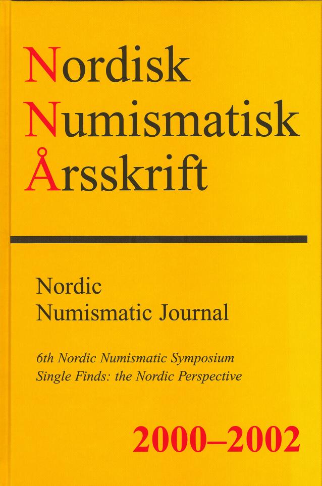 Nordisk Numismatisk Årsskrift 2000-2002