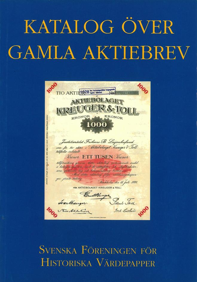 Katalog över gamla aktiebrev